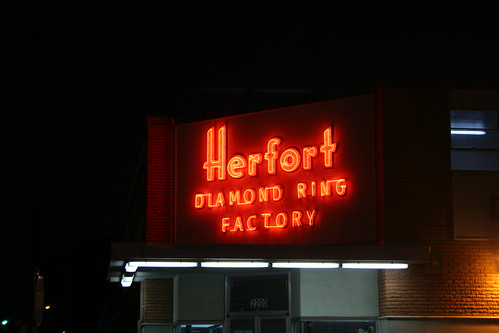 herfort diamond ring factory neon sign