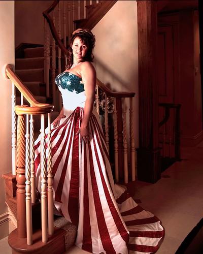 american flag wedding dress pattern