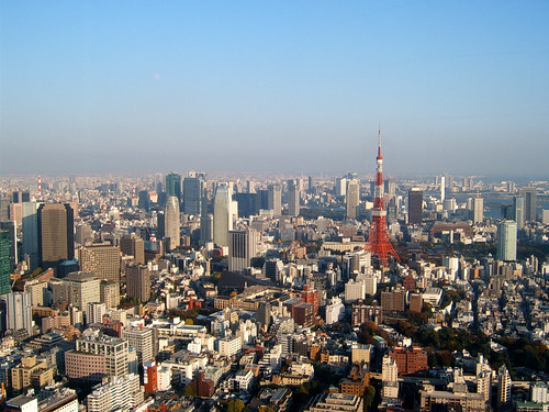 Tokyo Tower and other buildings