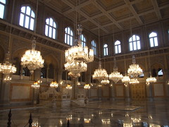Chowmahalla Palace in Hyderabad (crazymaq) Tags: india architecture interior rich royal palace chandelier hyderabad charminar golconda nizam deccan chowmahalla
