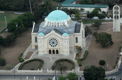 Holy Trinity Cathedral (Jamdowner) Tags: church catholic cathedral bluemountains aerial kingston helicopter jamaica holytrinity holywell aerialphotos stgeorgescollege