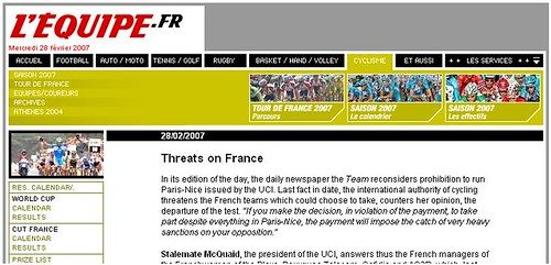 L'Equipe cycling news in English