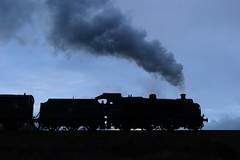 Time to call it a day (Treflyn) Tags: silhouette maunsell u class 260 31806 corfe common timeline events photo charter swanage railway