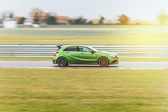 Mercedes A45 AMG (IainDix) Tags: mercedes aclass amg sport a45 racing trackday track racecar green canon