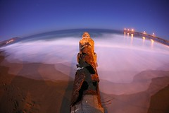 intersect (4PIZON) Tags: ocean california longexposure beach night sand ruins pipe pacificocean nophotoshop pacifica nopostprocessing pacificcoast unedited pacificapier 4pizon