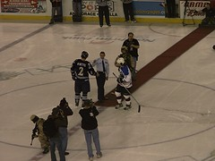 chief andrews (wittywd40) Tags: game hockey alaska andrews force chief air wing 2006 drop anchorage fresno puck aces 3rd falcons afb elmendorf