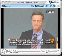 Michael Crichton @ National Press Club