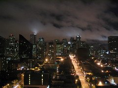 Downtown Seattle At Night (Ryan Hadley) Tags: seattle usa skyline night skyscraper lights washington belltown 2ndavenue mcguire seattleskyline