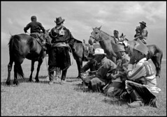 Mongolia After the Race (Stephen van der Mark) Tags: world travel portrait people bw horse beautiful wow interesting fantastic asia great group photojournalism mongolia stunning lonelyplanet traveling journalism bwphotography blackwhitephotography naadam blackandwhiteportrait