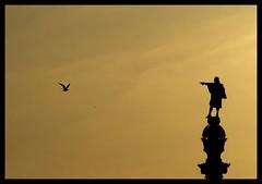 Il nuovo mondo (the new world) (ozio-bao) Tags: world new sunset spain barcellona colombo colon challengeyouwinner oziobao