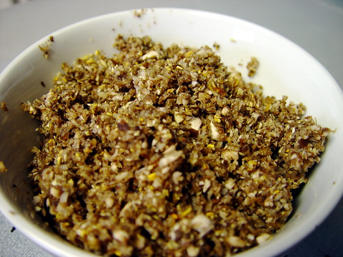 Finely chopped mushrooms