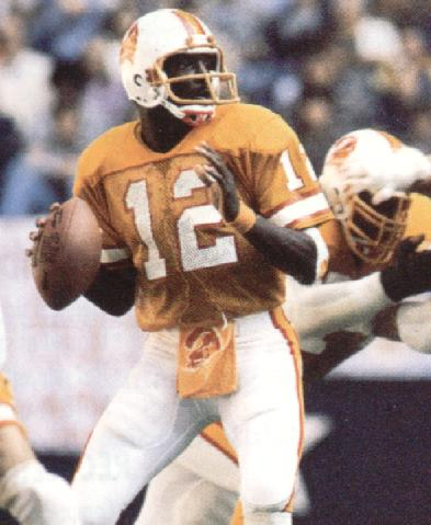 Doug Williams during rookie season in Tampa Bay