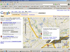 Calling with Google Maps (herzogbr) Tags: googlemaps chelmsfordpubliclibrary internetcalling