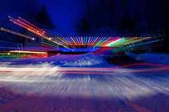 Holiday Blizzard Laser Light (Fort Photo) Tags: christmas xmas longexposure home night dark fun lights colorado nightscape nocturnal d70 fort snowstorm fortcollins 2006 christmaslights led co laser experimentation blizzard collins nocturne longtimeexposure playwithlight christmas2006 coloradoblizzard abigfave anawesomeshot holidayblizzard