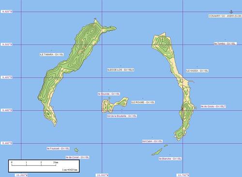 Iles de Los - Marplot Map (1-62,500)