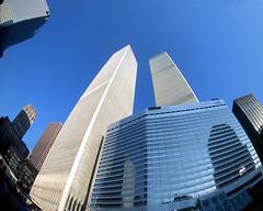 World Trade Center Twin Towers fisheye (JRABX) Tags: newyorkcity worldtradecenter impressedbeauty superaplus aplusphotos