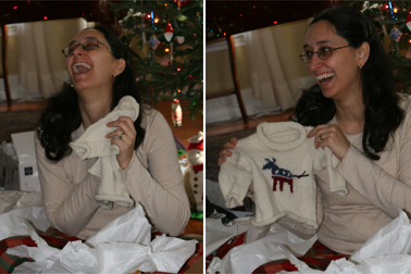 Opening the Sweater
