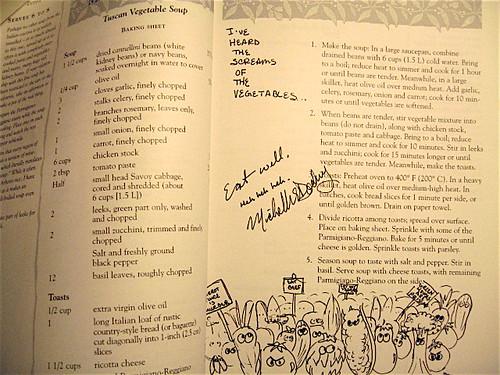 Excerpt from Cookbook graffiti