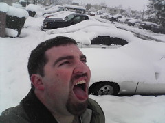 Phil Catching Snowflakes