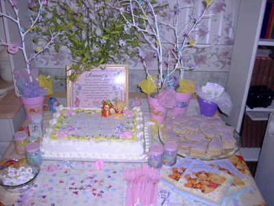 Baby shower cake table display