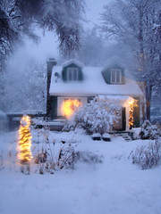 Snowy (Etolane) Tags: christmas winter white house snow topv111 wow lights interestingness topv555 topv333 village lumire hiver topv999 atmosphere explore chalet topv777 neige lovely charming nol magical foire dcoration beautifull charmant 3ofakind ferique impressedbeauty embue bestofwinter portefoliolac