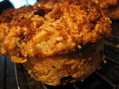 banana and chocolate chip buttermilk muffin with streusel