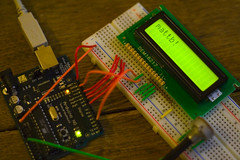 Arduino LCD hacking (Matt Biddulph) Tags: hardware lcd breadboard arduino camera:make=canon exif:flash=flashdidn