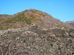 Lava rocks without snow