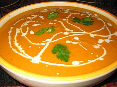 Soupe de carottes terminée