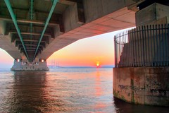 Sunset under the Second Severn Crossing (*Firefox) Tags: sunset bristol geotagged riversevern secondseverncrossing geolat51569281 geolon2664442