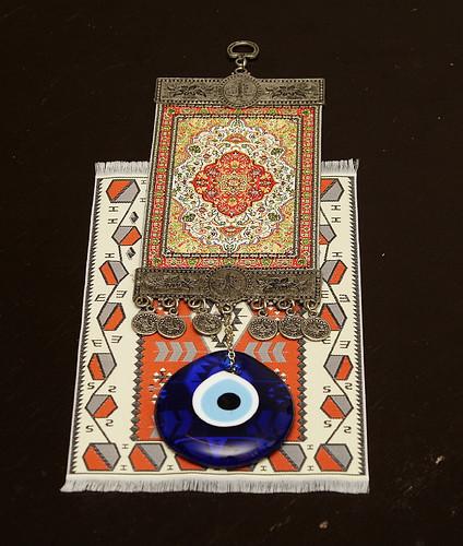 織毯與藍眼睛
