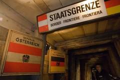 Austria-Germany Frontier (okonetchnikov) Tags: trip travel winter people mountains alps building museum germany austria mine border salt traveling frontier hallein