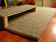 the completed shelf (with carpet)