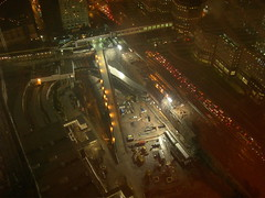 Ground zero at night, seen from 7 World Trade Center