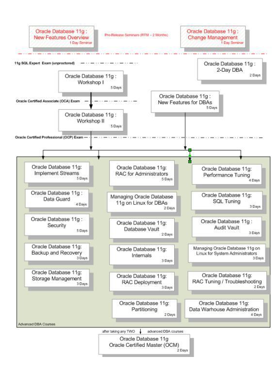 Oracle11g认证体系结构