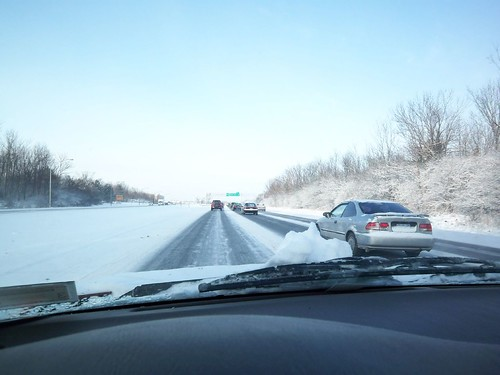 Winter's Drive: 590 S towards RIT