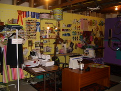 Sewing room 1-2007 007 (lisaquilts) Tags: sewing viking organization pfaff sewingmachines sewingroom elna sergers