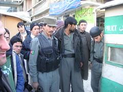 Un grupo de policias afganos