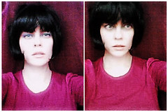 vintage (Sexy Swedish Babe) Tags: selfportrait me collage purple duo wig crapcam
