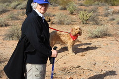 Elderly Hiker on Lost Dog Wash Trail
