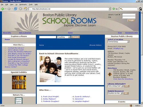 Boston Public Library - SchoolRooms - Explore.Discover.Learn.