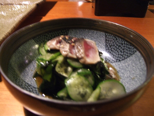 Sebo Sushi (San Francisco) - Salad of Cucumbers, Seaweed, & Seared Saba