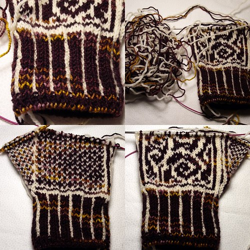 Left Anemoi Mitten in progress