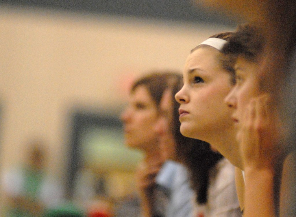 Kelsey watching the play, husky womens basketball, Nov 11