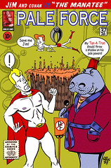 is anything cooler than a manatee in a fez? (robolove3000) Tags: comic cartoon tan manatee 3000 conanobrien robolove jimgaffigan paleforce