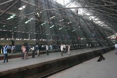 Sunlight on platform - Chhatrapati Shivaji Terminus - Mumbai