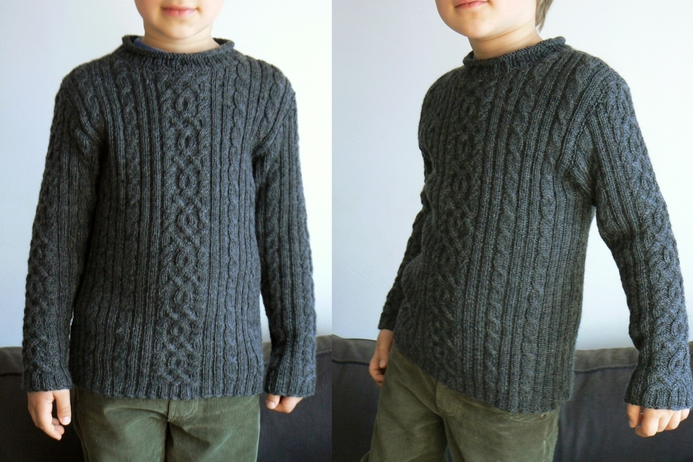 phildar cabled sweater