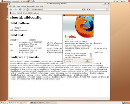 Firefox 2.0 pour AMD64 avec l'Edgy Eft