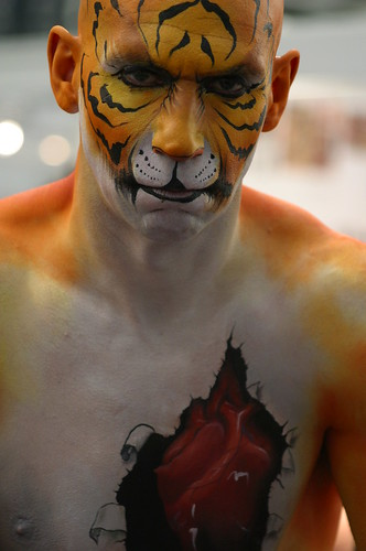 Tiger Body Art Painting