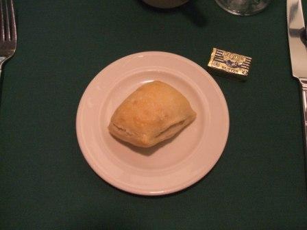 Garlic sourdough roll